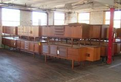Vintage Danish modern furniture  Warehouse, 60s, 60's, 1960s, 1960's, danish modern, vintage, midcentury modern, mid-century modern, mcm, dresser, sideboard, buffet, wood furniture