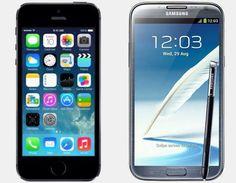 Vergelijk Apple iPhone 5S 64GB vs Samsung Galaxy Note 2 Verschillen | Versus OS #Apple #iPhone #iPhone5S #Smartphone #Vergelijken