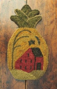 House on the Pineapple Rug Hooking Pattern by Buttermilk Basin ...