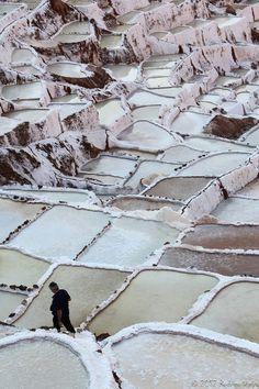 Salt beds, Peru