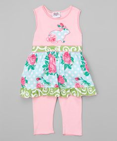 Look at this #zulilyfind! Pink Easter Bunny Thumper Dress & Pants - Infant, Toddler & Girls #zulilyfinds