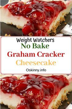 No Bake Graham Cracker Cheesecake come only with 3 Weight Watchers Smart Point Ingredients: Low Fat Graham Crackers 8 oz. Ww Desserts, Sugar Free Desserts, Healthy Desserts, Healthy Drinks, Healthy Recipes, Diabetic Recipes, Healthy Foods, Dessert Recipes, Healthy Eating