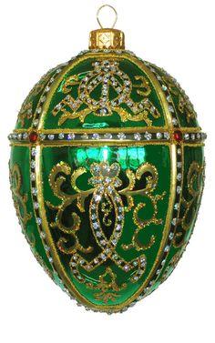 Edward Bar Oriental Egg Green Christmas Ornament Handmade Christmas  $45.00 eBay