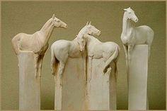 "1,816 Likes, 16 Comments - Paard Verzameld (@paardverzameld) on Instagram: ""Horse block sculptures by English sculptor Susan Leyland. #susanleyland #art #sculpture #sculptor…"""