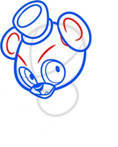 how to draw chibi freddy fazbear, five nights at freddys step 5