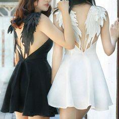 eeb1da4c0e Harajuku Angel Devil Wings Couple Dress KF2503. unzzy