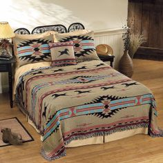 Southwest Horses Coverlet - Horse Themed Gifts, Clothing, Jewelry and Accessories all for Horse Lovers | Back In The Saddle