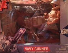 GI Joe Limited Edition Navy Gunner w/Twin Mount Anti-Aircraft Gun. Unbelievable that Hasbro made this!