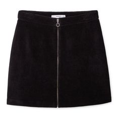 Zipped Cotton Skirt (£16) ❤ liked on Polyvore featuring skirts, mini skirts, bottoms, zip skirt, mango skirt, zipper skirt and cotton skirt