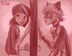 Marinette and ChatNoir