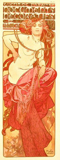 réépinglé par Maurie Daboux¸. Art Nouveau Illustration, Vintage Illustration Art, Artist Project, Alphonse Mucha, Artist Painting, New Art, Graphic Art, Book Art, Concept Art