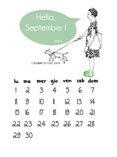 I disegni di Mae #september calendar #illustration #photoshop