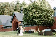 Al fresco summer wedding reception at Shelburne Farms in Vermont