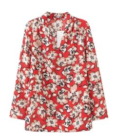 Christmas Flower Print Blouse