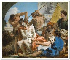 Giandomenico Tiepolo Italian 1727–1804, worked in Spain 1762–70 The Crown of Thorns (La corona di spine) 1771–72 oil on canvas 124.0 x 144.0 cm Museo Nacional del Prado, Madrid (P00357) Museo de la Trinidad, Madrid