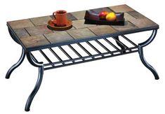 AAntigo Rectangular Cocktail Table By Signature Design By Ashley Tiled  Coffee Table, Tile Patio Table
