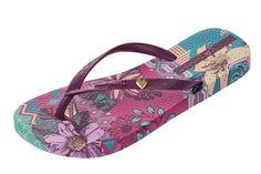 Ipanema Amazona Plum Purple Women's Floral Flip Flops