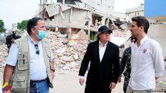 @DrodriguezVen : Llegamos a Manta con Canciller @GuillaumeLong a recibir el 5to avión d ayuda humanitaria q envió Venezuela para ayudar al pueblo ecuatoriano