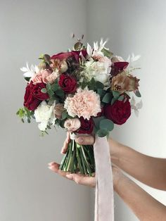 24 Unique Wedding Bouquet Ideas from Flowerna.ru - Oh The Wedding Day Is Coming Spring Wedding Bouquets, Purple Wedding Bouquets, Flower Bouquet Wedding, Red Wedding, Rustic Wedding, Bouqets, Weeding, Unique Weddings, Weddingideas