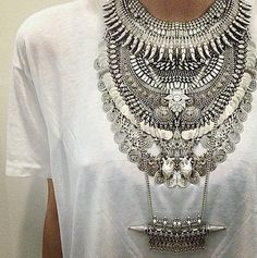 We're making: Silver Statement Necklace
