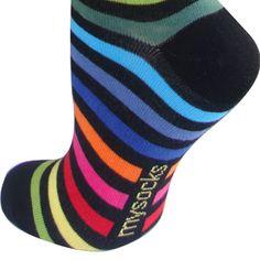 rainbow dress socks for men   Men's Striped Socks - Men's Socks