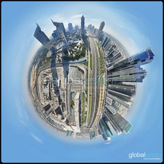 Check these amazing panoramas over Dubai. Turn around and discover the world as never seen before. Dubai World, World Trade Center, Aerial View, In The Heights, Fair Grounds, Tours, Travel, Viajes, Destinations