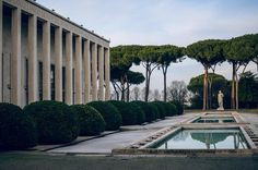 A lesson in architecture the Roman Empire & the Fascist life of Mussolini in the EUR district of #Rome - tour by @contexttravel #winterirome