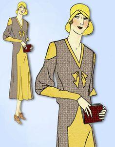 1930s VTG Ladies Home Journal Sewing Pattern 6537 Uncut Misses Street Dress 36 B #LadiesHomeJournal