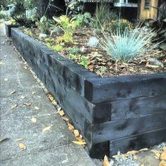 Juniper 4x4 timbers with a charred shou sugi ban finish