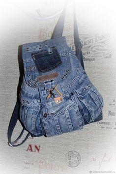 Рюкзаки ручной работы. Ярмарка Мастеров - ручная работа. Купить Рюкзак  джинсовый 22. Handmade. Джинса, рюкзак летний, молния b3ec937392b