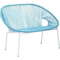 Divanetto Spaghetti blu Kare Design