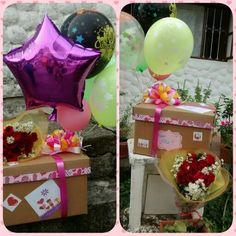 Desayuno sorpresa dulce sentimiento Diy Birthday Box, Birthday Gifts, Happy Birthday, Birth Gift, Ideas Para Fiestas, Creative Gifts, Special Gifts, Diy And Crafts, Birthdays
