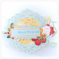 Gorgeous, summertime perfect card created by Gerry van Gent. #scrapbooking #cards #card_making #summer