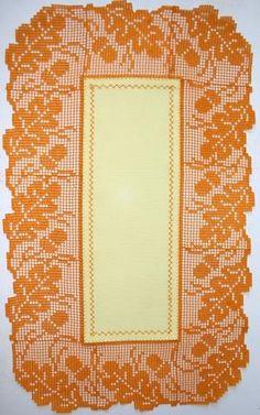 crochet oak leaf border