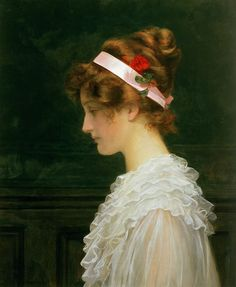 Profile of a Young Girl, Marcus Stone