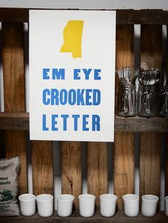 Em Eye Crooked Letter - MS, Mississippi - Old Try - Letterpress Print