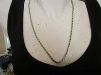 """New Listing Started silvertone chain necklace thick rope design 24""""long in good condition £1.00"""