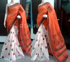 Code:1410152 Block Printed Kota Saree - Price Rs.2850/- Reserved for a Customer