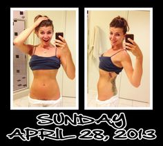 Day 28 of my 30 Day Ab Challenge! Lookin' good and feelin' ever better! =D