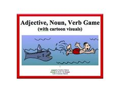 Here's a fun review game that challenges student teams to complete their grids with nouns, verbs and adjectives that describe the pictures and then create a sentence in just a minute. ELA, ESL 2nd-5th gr. $3.00
