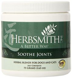 Herbsmith Soothe Joints Herbal Supplement for Dogs and Cats 75gm Powder >>> This is an Amazon Affiliate link. Check this awesome product by going to the link at the image.
