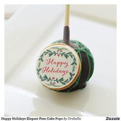 Happy Holidays Elegant Pine Cake Pops