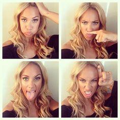 Leona Lewis blonde hair, olive skin