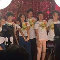 """This is James Reid, Nadine Lustre, Kathryn Bernardo, Daniel Padilla, Liza Soberano, and Enrique Gil enjoying a good time together during the taping and recording of the ABS-CBN 2015 Christmas Station ID, """"Thank You for the Love!"""" Indeed, these three Kapamilya love teams have joined together. #JaDine #KathNiel #KathNielBernaDilla #LizQuen #ABSCBNChristmasStationID #ThankYoufortheLove Child Actresses, Child Actors, Inigo Pascual, Half Filipino, Daniel Johns, Enrique Gil, Daniel Padilla, John Ford, Liza Soberano"""