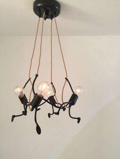 Lamp Lampje, uniek en sfeervol handgemaakt design - KlimLampje Vierkante Kroonluchter