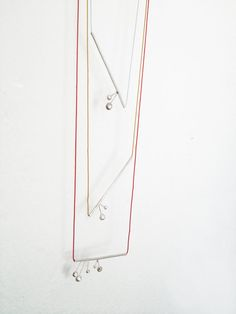 minimal sterling silver tube necklace ''Silver cherries by eried, $55.00