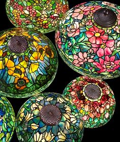 Tiffany Style Lamp Shades Extraordinary 28 Inch Hollyhock  Lamparas Tiffany Pinterest  Hollyhock Inspiration Design