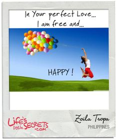 In Your perfect Love...Lord Jesus I am free and...HAPPY     HAPPY ! Discover and share more at www.LifesLittleSecrets.com today. #lifeslittlesecrets Perfect Love, The Secret, Disney Characters, Fictional Characters, Lord, In This Moment, Happy, Free, Ser Feliz