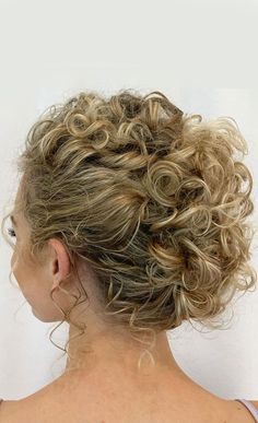 Short Curly Hair Updo, Curly Bridal Hair, Curly Hair With Bangs, Curly Hair Styles, Up Dos For Medium Hair, Medium Hair Styles, Hair Updos For Medium Hair, Easy Updo Hairstyles, Hairstyles With Bangs