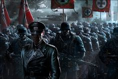 Enemy Front Game on Digital Art Served German Soldiers Ww2, German Army, Anime Military, Military Art, Dark Fantasy Art, Dark Art, Enemy Front, Soldier Drawing, Military Drawings